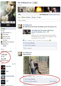 Walking Dead, Facebook, Experience, Interaction, Social Media