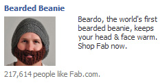 facebook ad, beard, touque